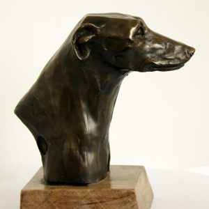 Cold Cast Bronze Greyhound